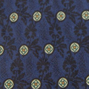 #1A JOSEPH ABBOUD CIRCLES BLUE GREEN SILK Mens Neck Tie