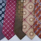 Vtg 5 Wembley JC Penney Art Art Nouveau Geomatric Texture 70s Necktie Ties Lot