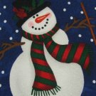#1A New RM HOLIDAYS FALLING SNOWMAN Christmas Holiday NAVY WHITE  Necktie Tie