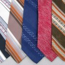 Vtg 5 Sears Countess Mara Damon Ray Beers Stripe Fat Texture 70s Neck Ties Lot