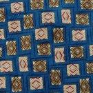 CLUB ROYAL SQUARES BLUE OLIVE MAROON SILK TIE NECK TIE Men Designer Tie EUC