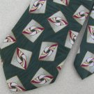 #1A JOS A BANK Gold Red Green Mens Neck Tie