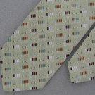 Vtg Claude Du Pre  Skinny Geometric Texture 70s 60s Brn Teal Green Neck Tie VE1