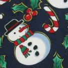 #1A New HALLMARK Christmas SnowMan MISTLE TOE CANDY CANE NAVY RED  Necktie Tie