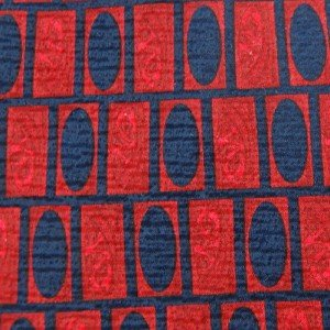 #1A TOM JAMES RED NavyBlue CHECKER CIRCLES MEN NECK TIE