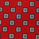 #1A New  CXS-21 SQUARES RED BLUE SILK BOYS NECK TIE
