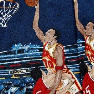 #1A New Spencer & Lowe USA Basketball Navy Tan Red Silk MENS Neck Tie NECKTIE
