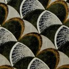 GALLERIA  CO  WAVES GREEN WHITE YELLOW TIE NECKTIE Men Designer Tie EUC