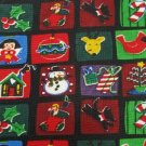 #1A NEW ADDICTION Christmas Holiday Ornament SQUARE RED BLUE GREEN  Necktie Tie