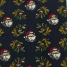 #1A MARK ALEXANDER USA Christmas Santa Holiday MISTLETOE NAVY RED  Necktie Tie