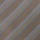 "#1A New XL 60"" KAI LONG STRIPE WOVEN TAN BLUE TIE Necktie"