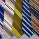 Vtg 5 Wembley Towncraft Striped Check Wide Fat Texture 70s Men Necktie Ties Lot