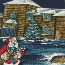 #1A New STAFFORD USA Christmas Santa GOLF Holiday NAVY WHITE RED  Necktie Tie