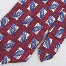 Robert Talbott Studio Geometric Silk Mens Blue Neck Tie Men Designer Tie EUC