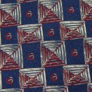 HATHAWAY WOVEN BLUE RED YELLOW SILK MEN NECK TIE Men Designer Tie EUC