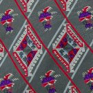 PATTINNI UOMO DIAMONDS RED GREY PURPLE SILK TIE NECK TIE Men Designer Tie EUC