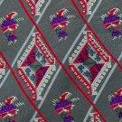 PATTINNI UOMO DIAMONDS RED GREY PURPLE SILK TIE NECK TIE Men Designer Tie EUC