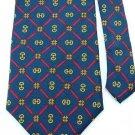 SUTTER & GRANT Navy BLUE Red DIAMOND SHAPED Men Designer Tie EUC