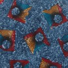 #1A SECOURS ITALY DarkBlue RED ABSTRACT SILK MEN NECK TIE