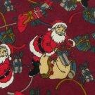 #1A Vintage Camden Court Christmas Santa Holiday Ornament Maroon  Necktie Tie