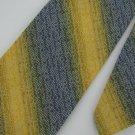 Vintage Wemlon Wembley Texture Stripe 60s Yellow Blue Men Neck Tie Necktie  #EV