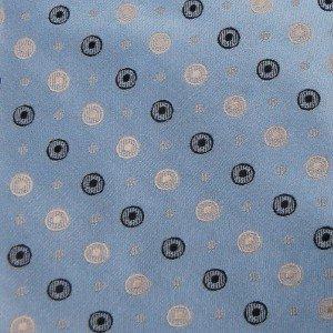 #1A New CALVIN KLEIN JACQUARD CIRCLES BLUE Men Neck Tie