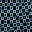 #1A New PRESCOT BAY NAVY BLUE YELLOW SILK MEN NECK TIE