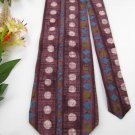 NWT J T  BECKETT ITALIAN CIRCLE SQUARE DIAMOND Neck Tie Men Designer Tie EUC