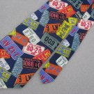 Perry Ellis Portfolio Silk Men State License  Neck Tie Men Designer Tie EUC