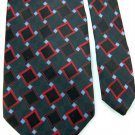 GIORGIO BRUTINI BLACK RED GRAY DIAMOND MEN NECK TIE Men Designer Tie EUC