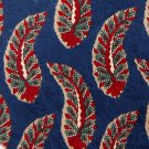 PULSE FEATHERS BLUE RED GREEN SILK TIE NECK TIE Men Designer Tie EUC