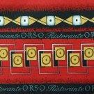 ANTHONY STRIPE RED YELLOW BLACK WHITE NECK TIE Men Designer Tie EUC