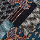STRUCTURE PATCHES BLK ORANGE GRAY SILK MEN NECK TIE Men Designer Tie EUC