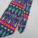Kenneth Roberts Christmas Holiday Tree Ornament Neck Tie Men Designer Tie EUC