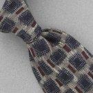 Countess Mara Square Rustico Silk Tan Brown Men Neck Tie Men Designer Tie EUC