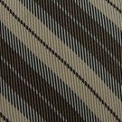 KENNETH COLE TAN BROWN BEIGE STRIPE SILK Men Neck Tie Men Designer Tie EUC