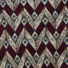 CLAIBORNE ZIGZAGS MAROON TAN BROWN SILK MENS NECK TIE Men Designer Tie EUC