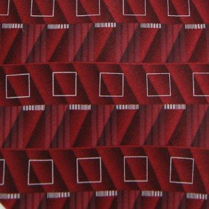 #1A MURANO RED WHITE BLACK ART DECO SILK Men Neck Tie Krawatte Cravatta