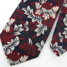 Vtg Calkour's  Beau Brammell Blue Floral Red Silver 60s 70s Vivid Neck Ties #VE