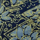 "60"" LONG PEIER HOI ART DECO BLUE NECK TIE Krawatte Cravatta Men Designer EUC"