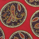ESSENTIA RED GRAY BEIGE PURPLE PAISLEY MEN NECK TIE Men Designer Tie EUC