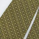 Vintage Wemlon Wembley Texture Gold Brown 60s Men Neck Tie Necktie  #EV