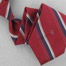 Vtg Christian Dior Monogram Narrow Stripe Blue Red Gold Men 70s Neck Tie V-4 EVC