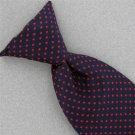 Vtg Wemlon Wembley Clip On Snap On Micro Dots Black Red  60s 70s Neck Tie #V-4