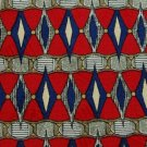 #1A Robert Talbott Studio USA Triangle Red Blue Yellow Silver Men Neck Tie