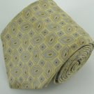 #1A Robert Talbott Best of Class Paisley Square Silver Yellow Woven Neck Tie