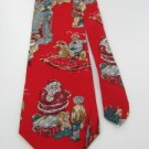 #1A NEW REED ST JAMES USA Christmas Santa  TOYS KID GRAY RED   Necktie Tie