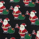 #1A NEW FN Christmas Santa Holiday GIFT STRIPE BLACK RED WHITE Silk Necktie Tie