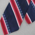 Vtg Wemlon Wembley Texture Stripe Navy Red 60's 70's 1970 Men's Neck Tie #VE