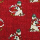 #1A ST. NICKS TIE SHOP CHRISTMAS SANTA SNOW MAN RED WHITE GREEN  SILK NECK TIE